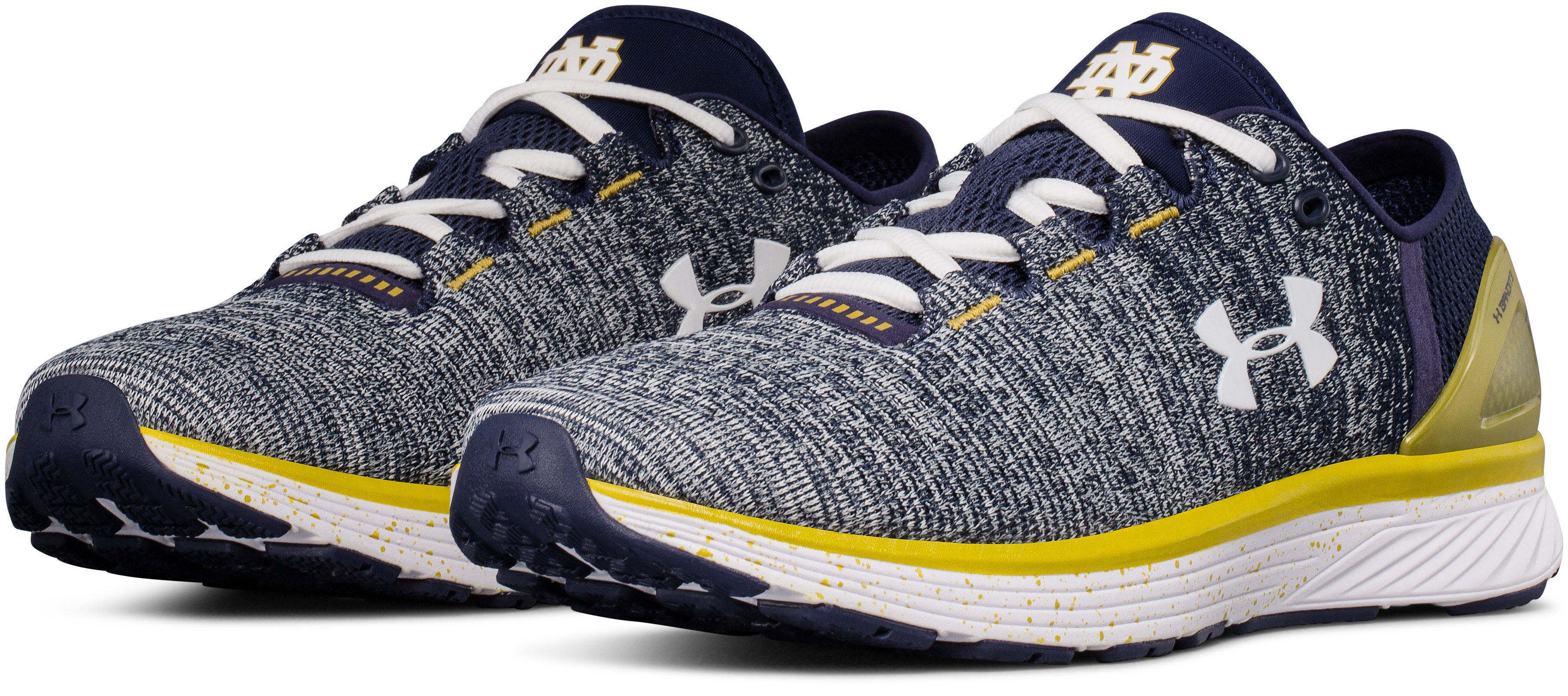 Men's UA Team Charged Bandit 3 Running Shoes, Midnight Navy,