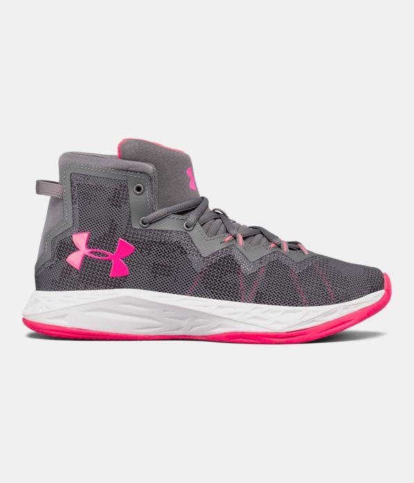 Girls' Grade School UA Lightning 4 Basketball Shoes ...