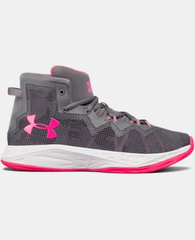 New Arrival Girls' Grade School UA Lightning 4 Basketball Shoes  2 Colors $69.99