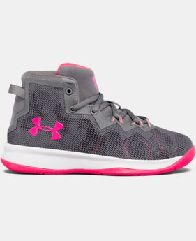New Arrival Girls' Pre-School UA Lightning 4 Basketball Shoes  2 Colors $62.99