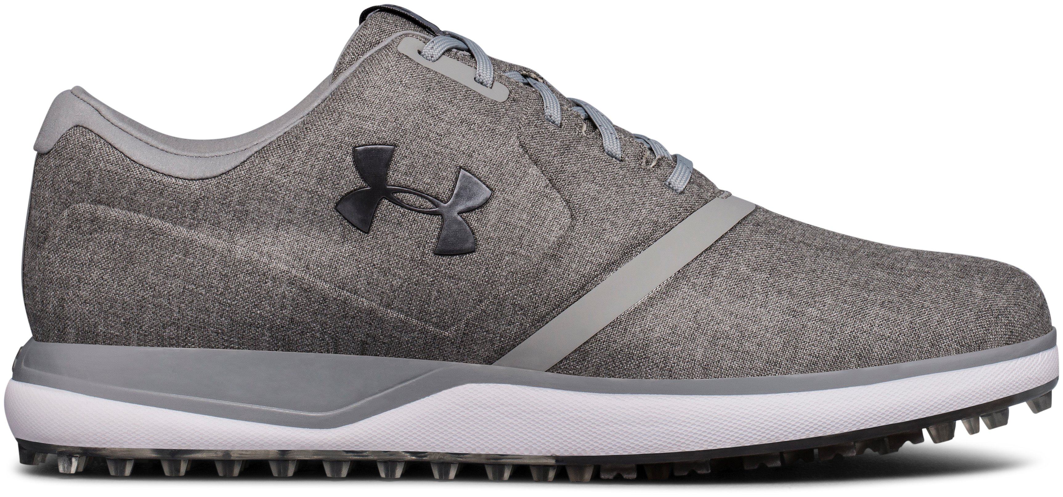 Men's UA Performance SL Sunbrella® Spikeless Golf Shoes, Charcoal,