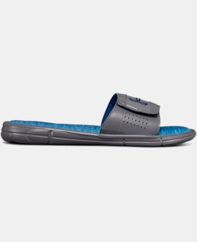 Men's UA Ignite V Heathered Slides  3  Colors Available $38
