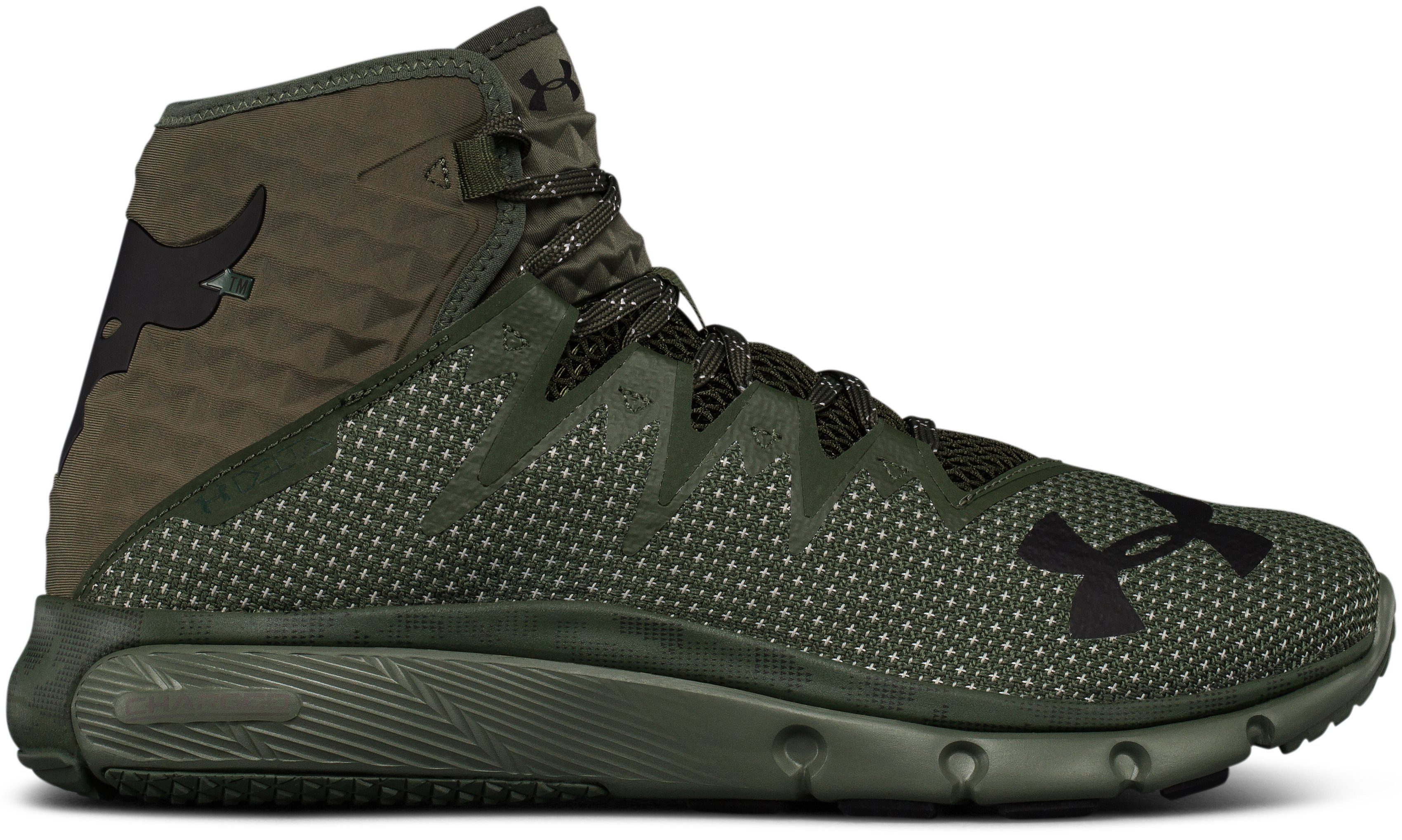Men's UA Project Rock Delta Training Shoes, DOWNTOWN GREEN