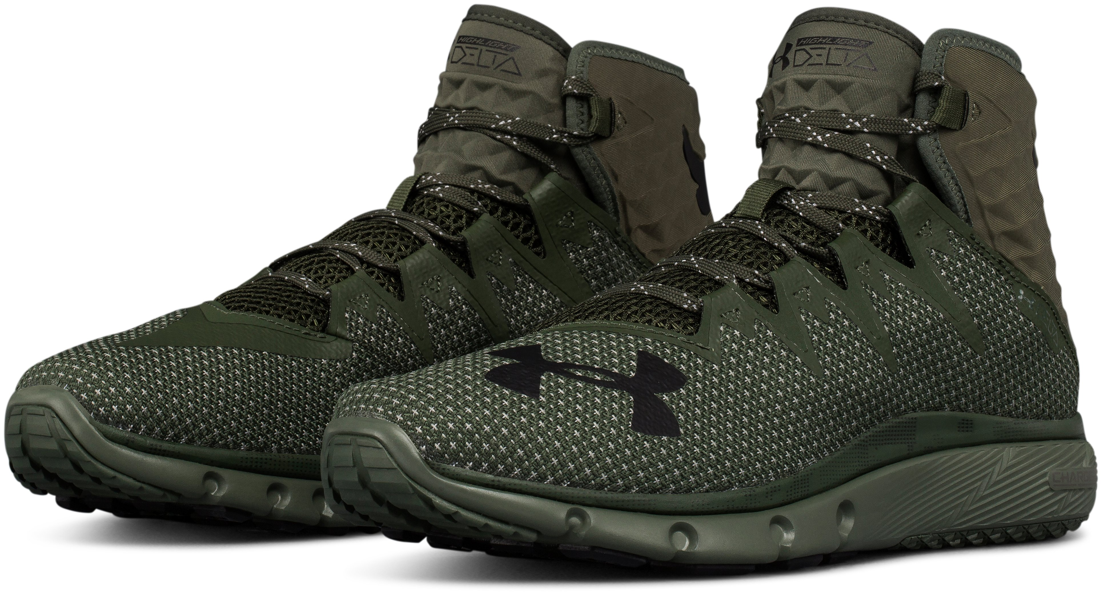 Men's UA Project Rock Delta Training Shoes, DOWNTOWN GREEN,