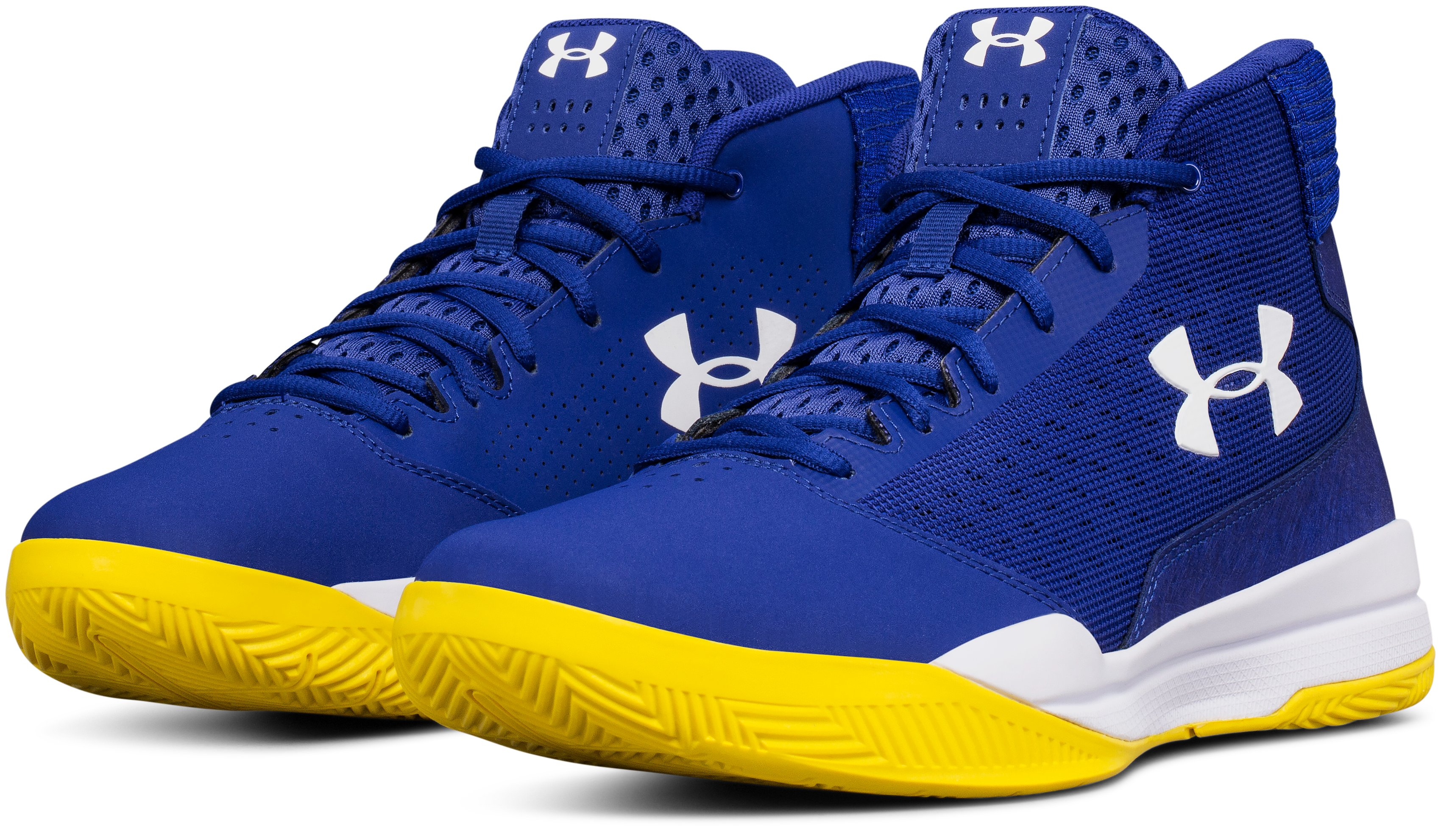 Men's UA Jet Mid Basketball Shoes, FORMATION BLUE,