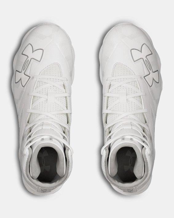 Boys' UA Highlight RM Jr. Football Cleats, White, pdpMainDesktop image number 3