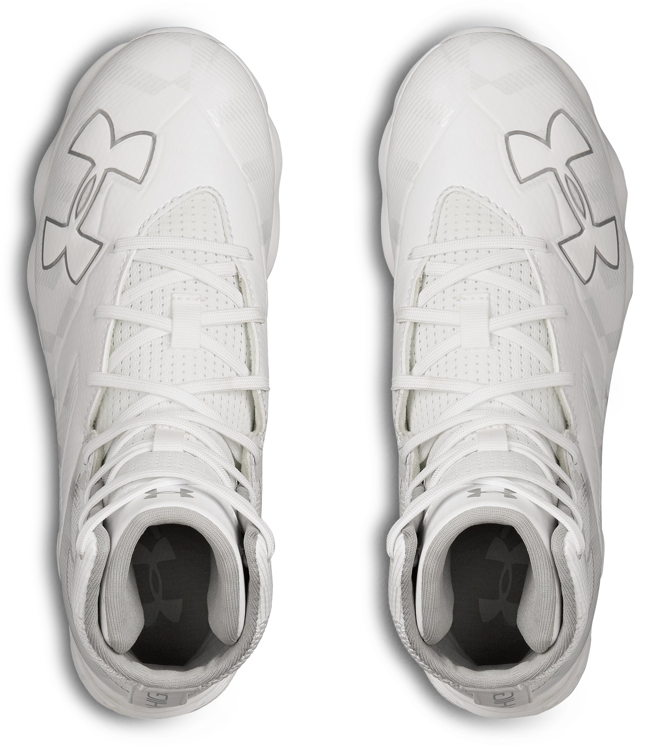 Boys' UA Highlight RM Jr. Lacrosse Cleats, White,