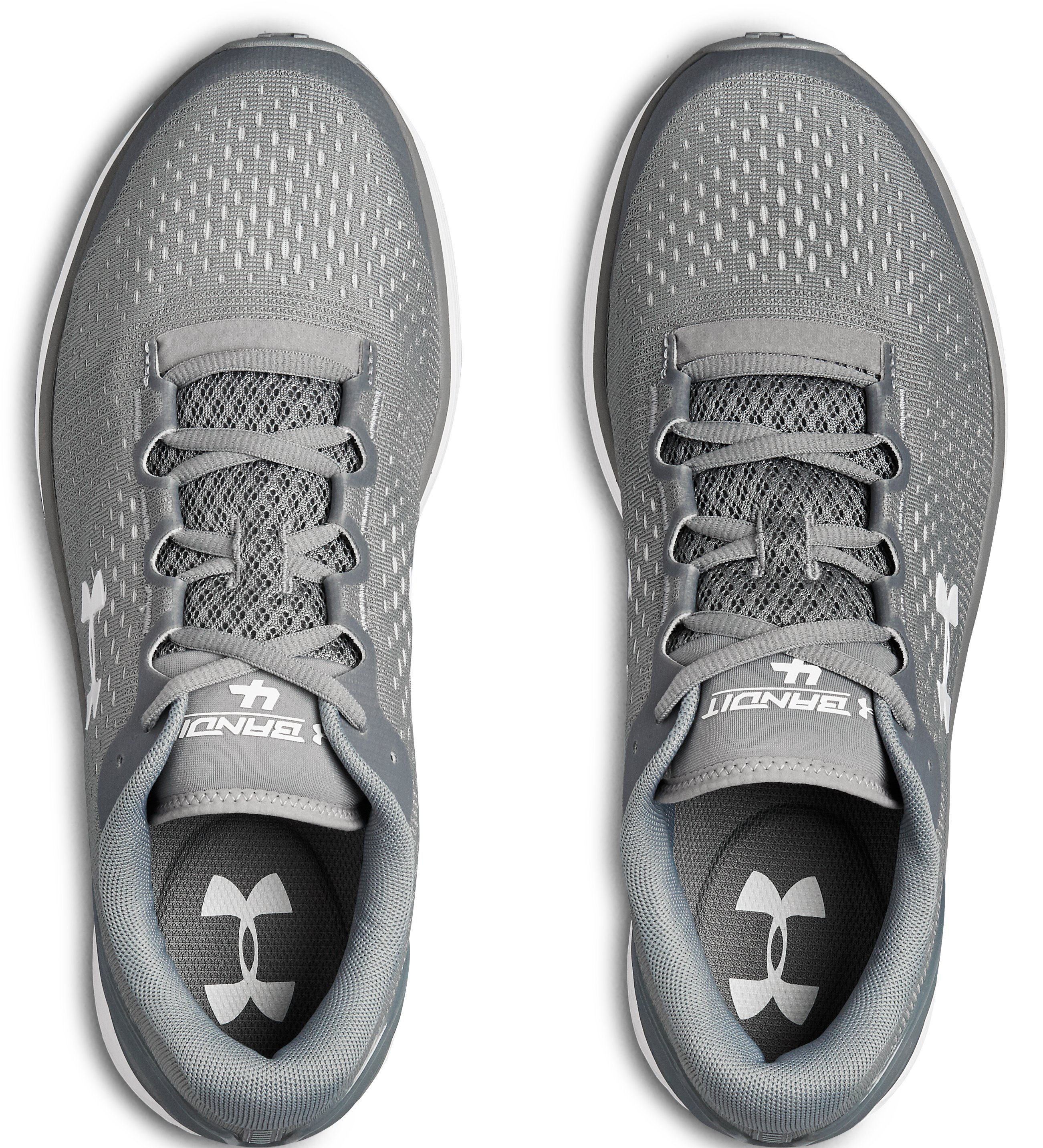 Men's UA Charged Bandit 4 Team Running Shoes, Steel,