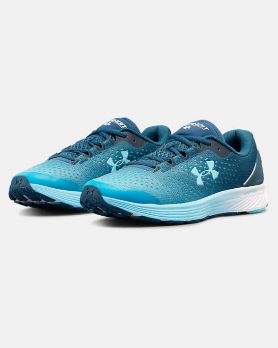 Women's UA Charged Bandit 4 Running Shoes, Blue, pdpMainDesktop image number 4