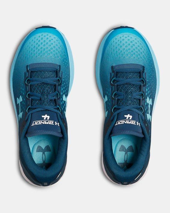 Women's UA Charged Bandit 4 Running Shoes, Blue, pdpMainDesktop image number 3