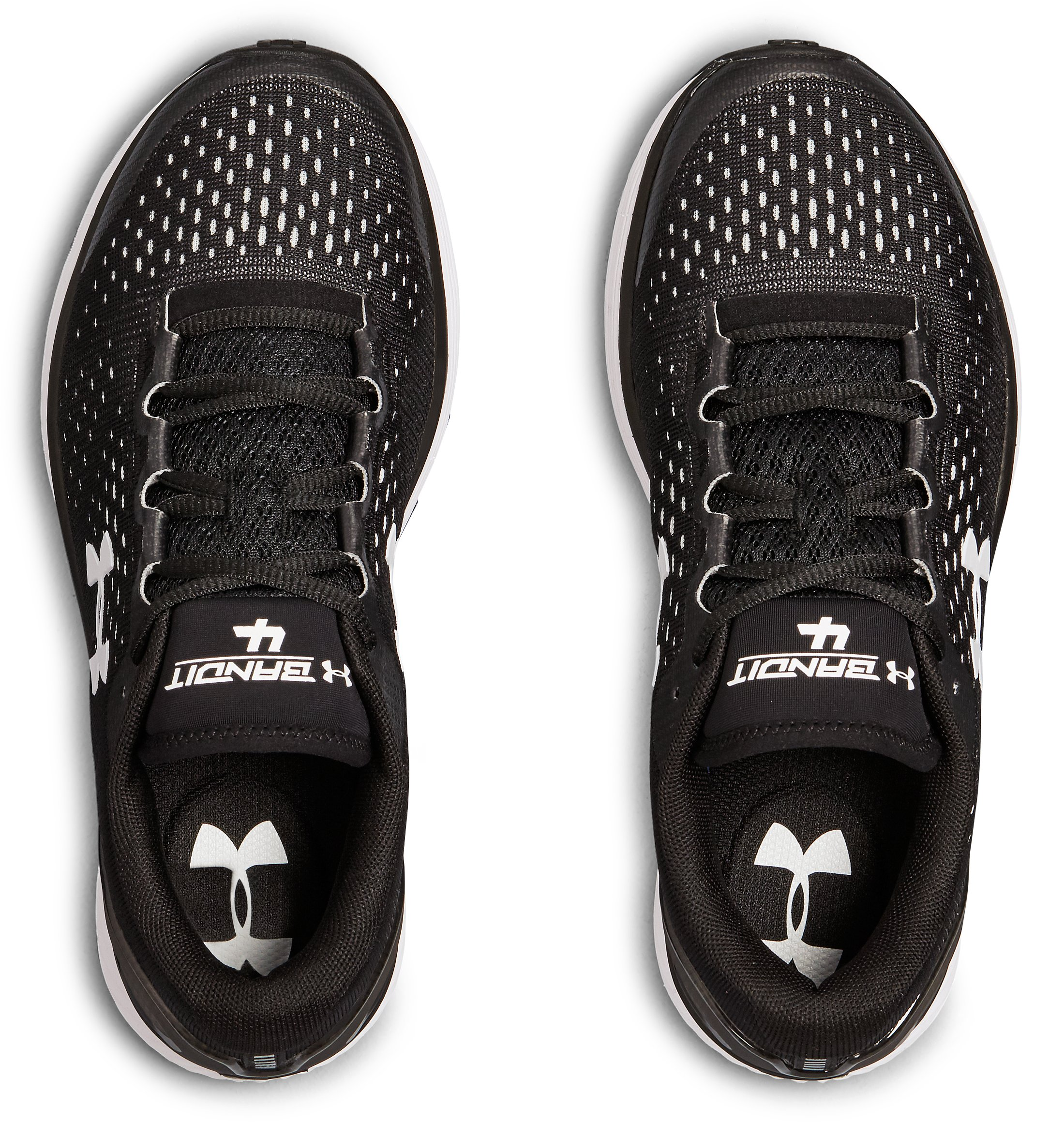 Women's UA Charged Bandit 4 Team Running Shoes, Black ,