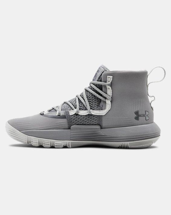 Grade School UA Curry 3Zer0 2 Basketball Shoes, Gray, pdpMainDesktop image number 1