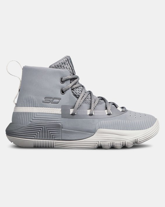 Pre-School UA Curry 3Zer0 2 Basketball Shoes, Gray, pdpMainDesktop image number 0