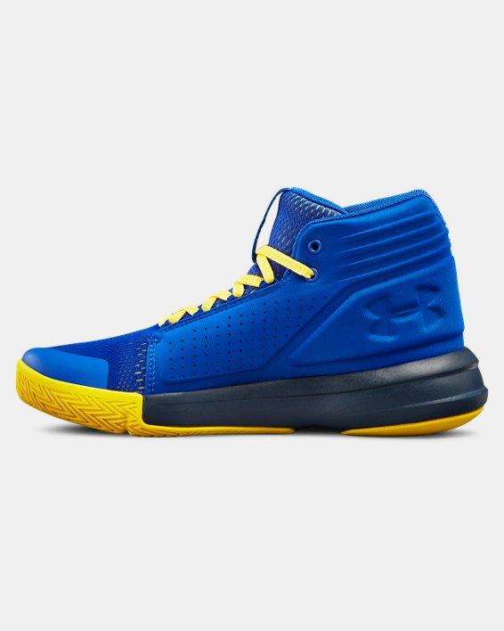 Boys' Grade School UA Torch Mid Basketball Shoes, Blue, pdpMainDesktop image number 1