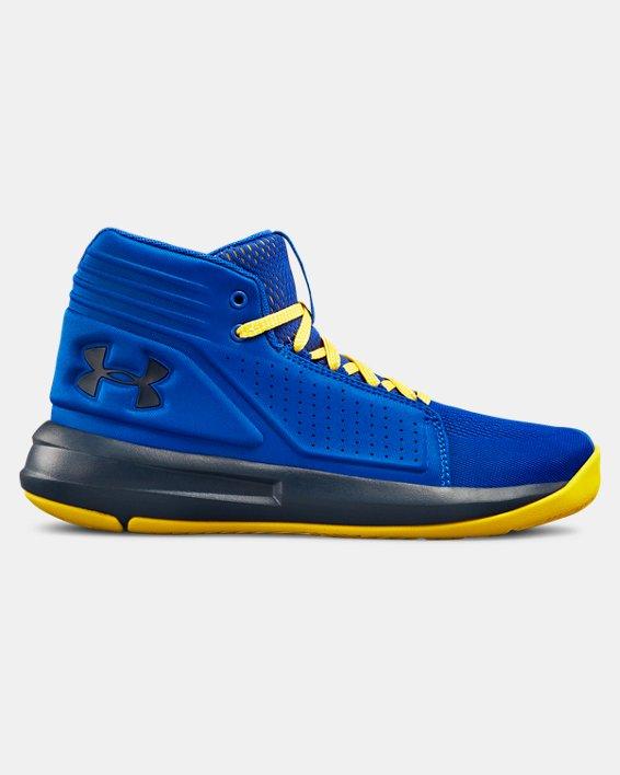Boys' Grade School UA Torch Mid Basketball Shoes, Blue, pdpMainDesktop image number 0
