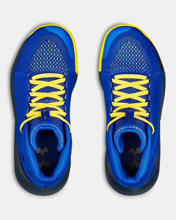 Boys' Grade School UA Torch Mid Basketball Shoes, Blue, pdpMainDesktop image number 3