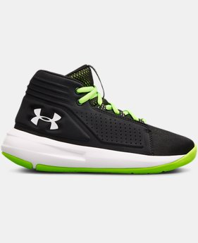 Boys' Pre-School UA Torch Mid Basketball Shoes  2  Colors Available $80