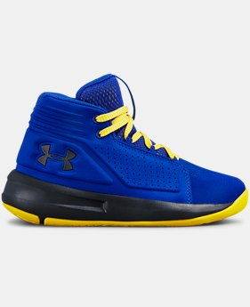 Boys' Pre-School UA Torch Mid Basketball Shoes  1  Color Available $65