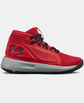 New Arrival Boys' Pre-School UA Torch Mid Basketball Shoes  2  Colors Available $65