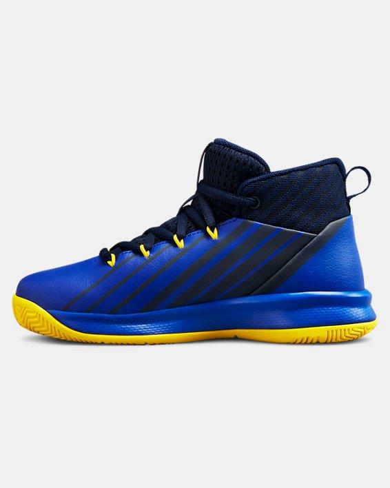 Boys' Pre-School UA Lockdown 3 Basketball Shoes, Navy, pdpMainDesktop image number 1