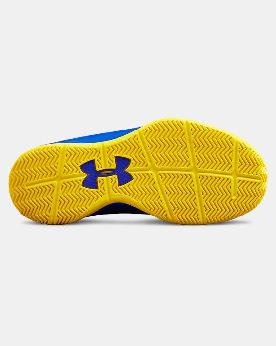 Boys' Pre-School UA Lockdown 3 Basketball Shoes, Navy, pdpMainDesktop image number 2