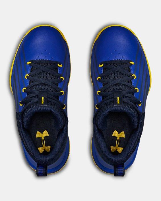 Boys' Pre-School UA Lockdown 3 Basketball Shoes, Navy, pdpMainDesktop image number 3