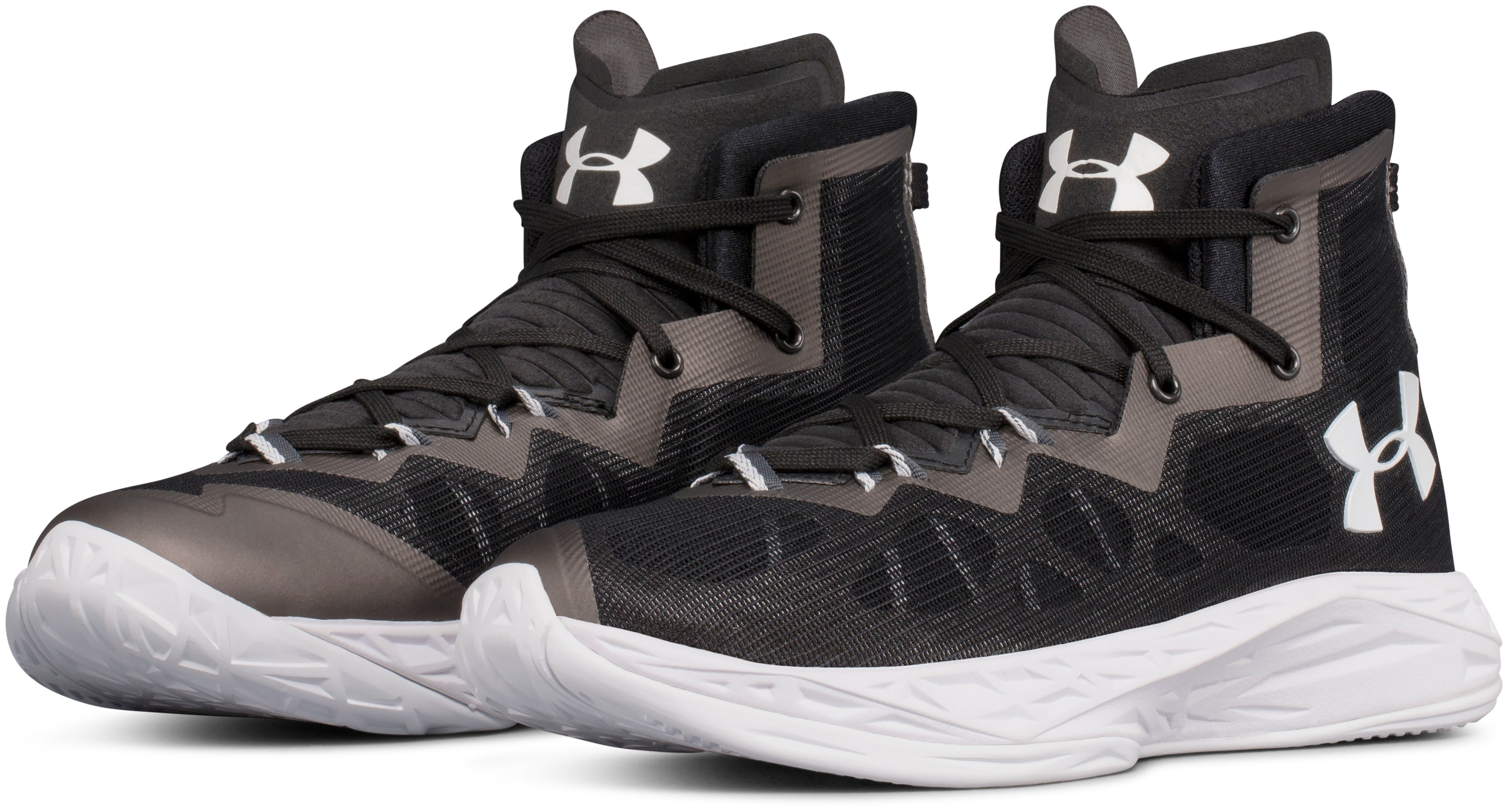Women's UA Lightning 4 Basketball Shoes, Black ,