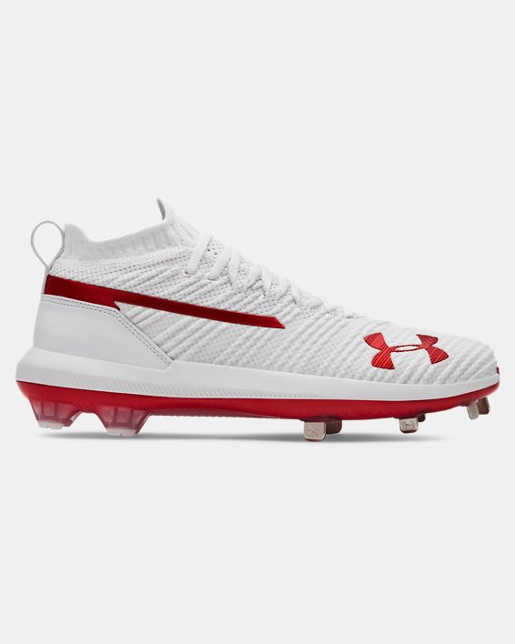 Men's UA Harper 3 Low ST Baseball Cleats, White, pdpMainDesktop image number 0