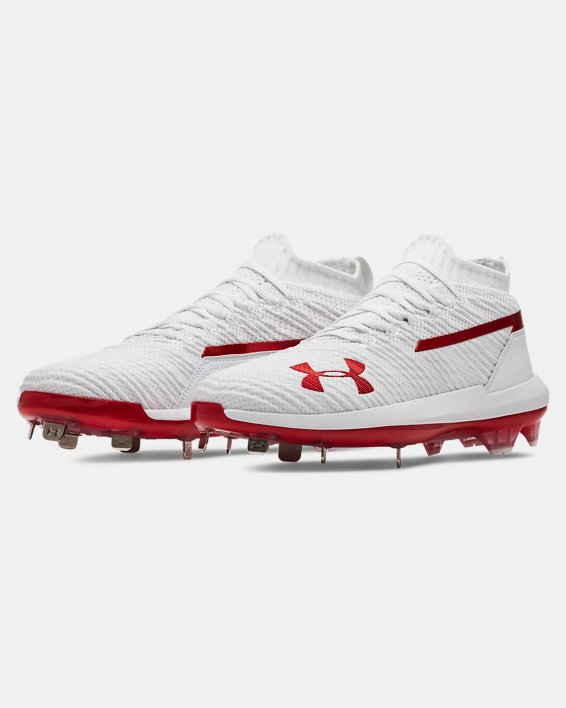 Men's UA Harper 3 Low ST Baseball Cleats, White, pdpMainDesktop image number 4