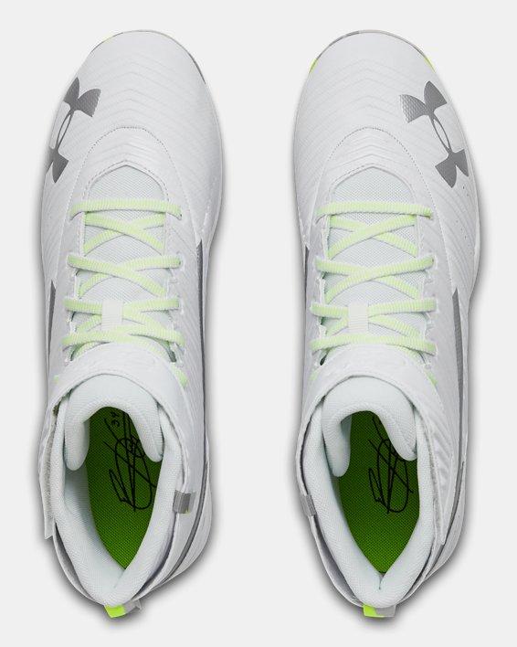 Men's UA Harper 3 Mid RM Baseball Cleats, White, pdpMainDesktop image number 3