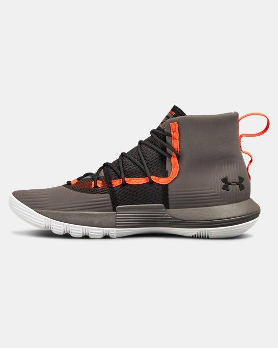 Men's UA SC 3ZER0 II Basketball Shoes, Gray, pdpMainDesktop image number 1