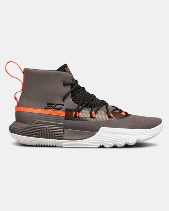 Men's UA SC 3ZER0 II Basketball Shoes, Gray, pdpMainDesktop image number 0