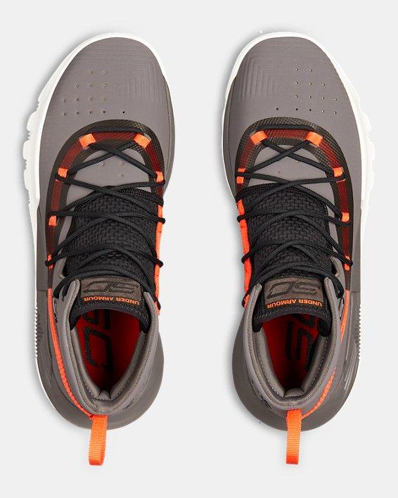 Men's UA SC 3ZER0 II Basketball Shoes, Gray, pdpMainDesktop image number 3