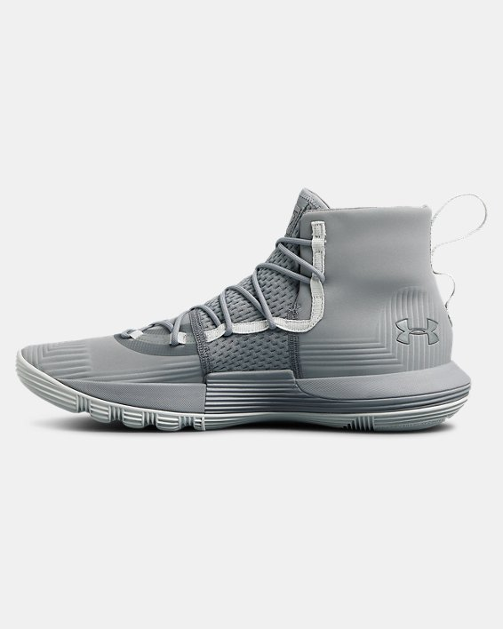 Men's UA SC 3ZER0 II Basketball Shoes, Gray, pdpMainDesktop image number 1