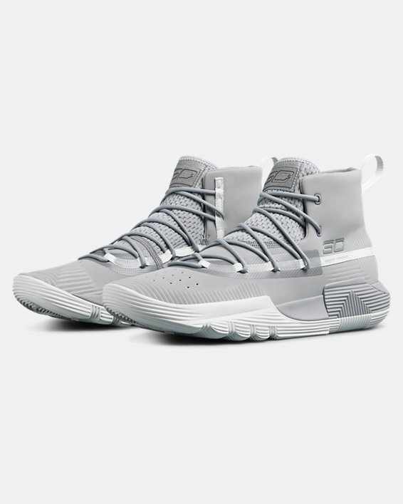 Men's UA SC 3ZER0 II Basketball Shoes, Gray, pdpMainDesktop image number 3
