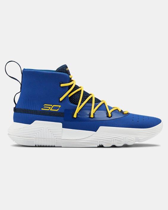 Men's UA SC 3ZER0 II Basketball Shoes, Blue, pdpMainDesktop image number 0