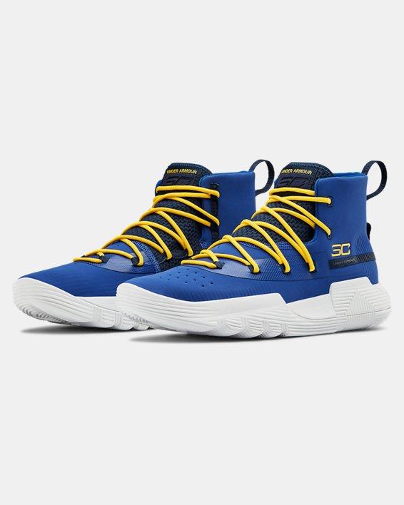 Men's UA SC 3ZER0 II Basketball Shoes, Blue, pdpMainDesktop image number 4