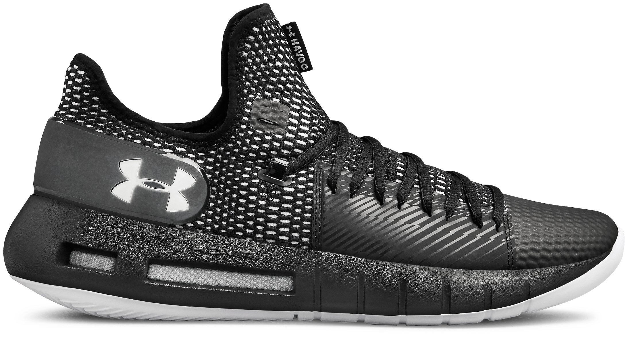 Men's UA HOVR™ Havoc Low Basketball Shoes, 360 degree view