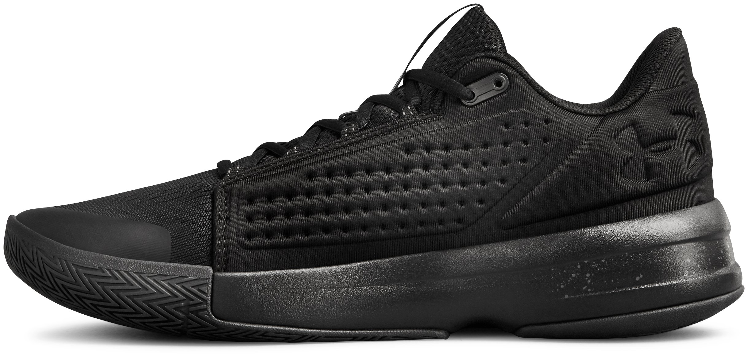 Men's UA Torch Low Basketball Shoes, Black ,