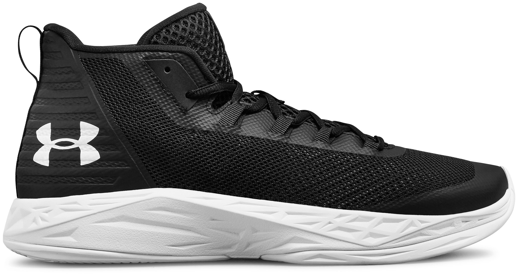 Men's UA Jet Mid Basketball Shoes, Black ,