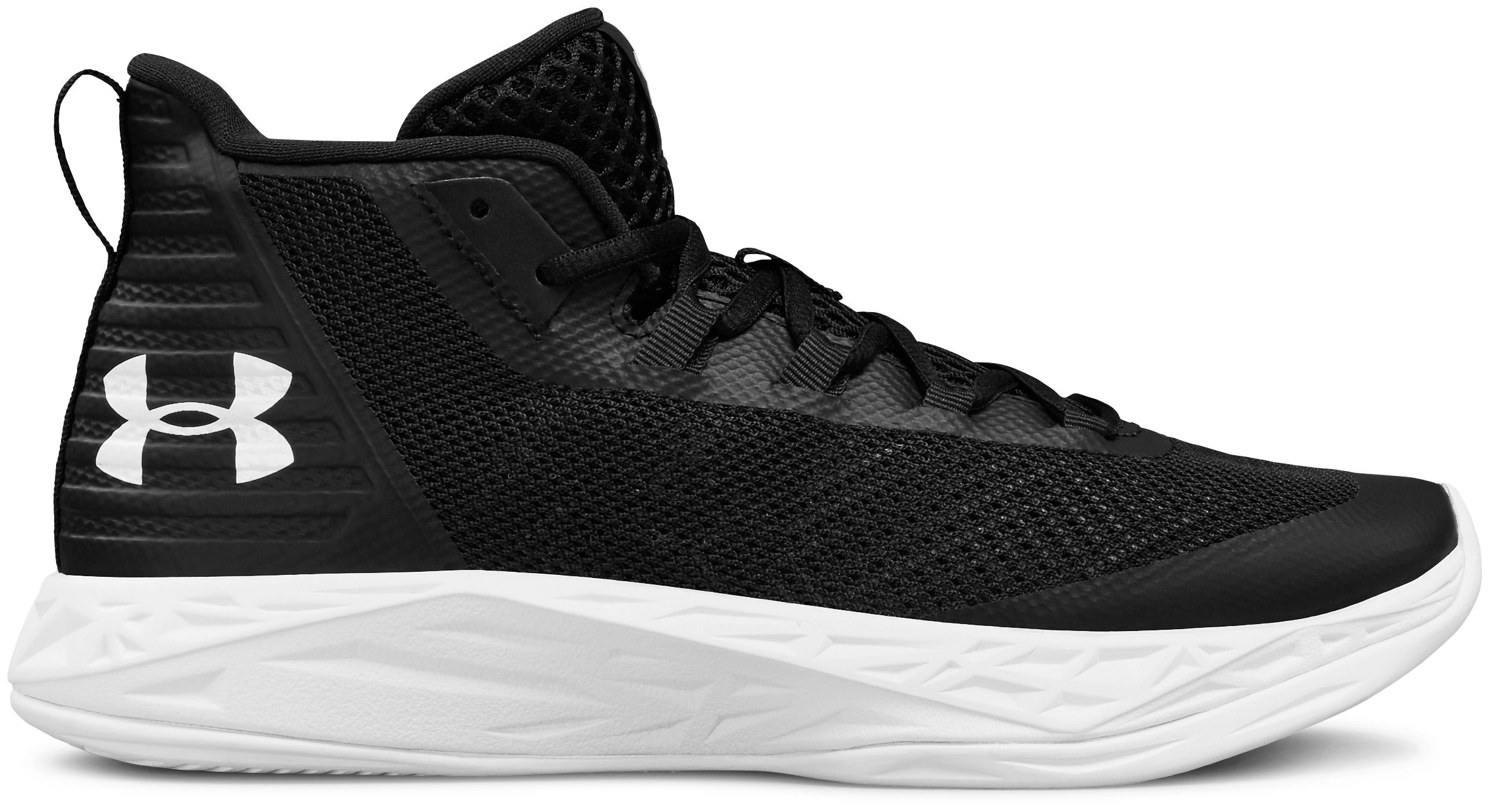 Women's UA Jet Mid Basketball Shoes, 360 degree view
