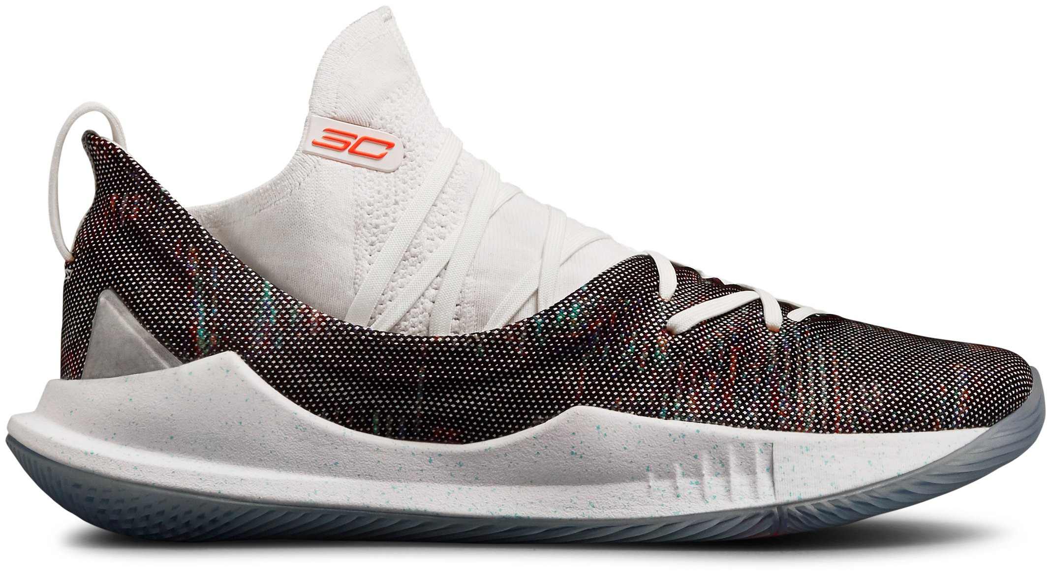 Men's UA Curry 5 Basketball Shoes, White,