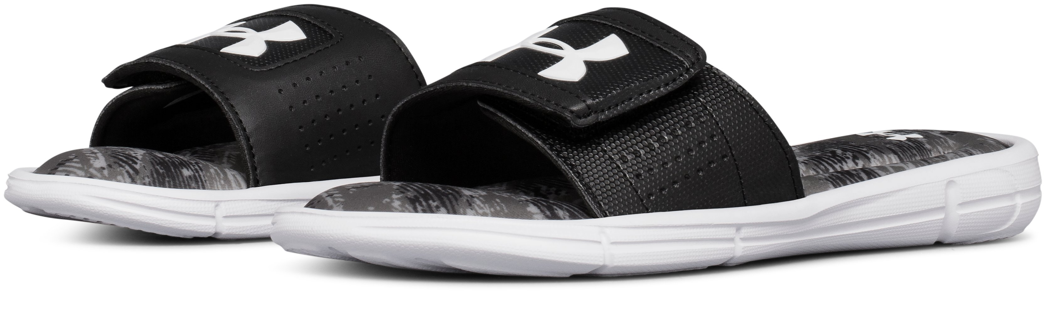 Boys' UA Ignite V Vertigo Slides, Black ,