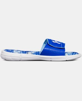 New Arrival Boys' UA Ignite V Vertigo Slides  2  Colors $32