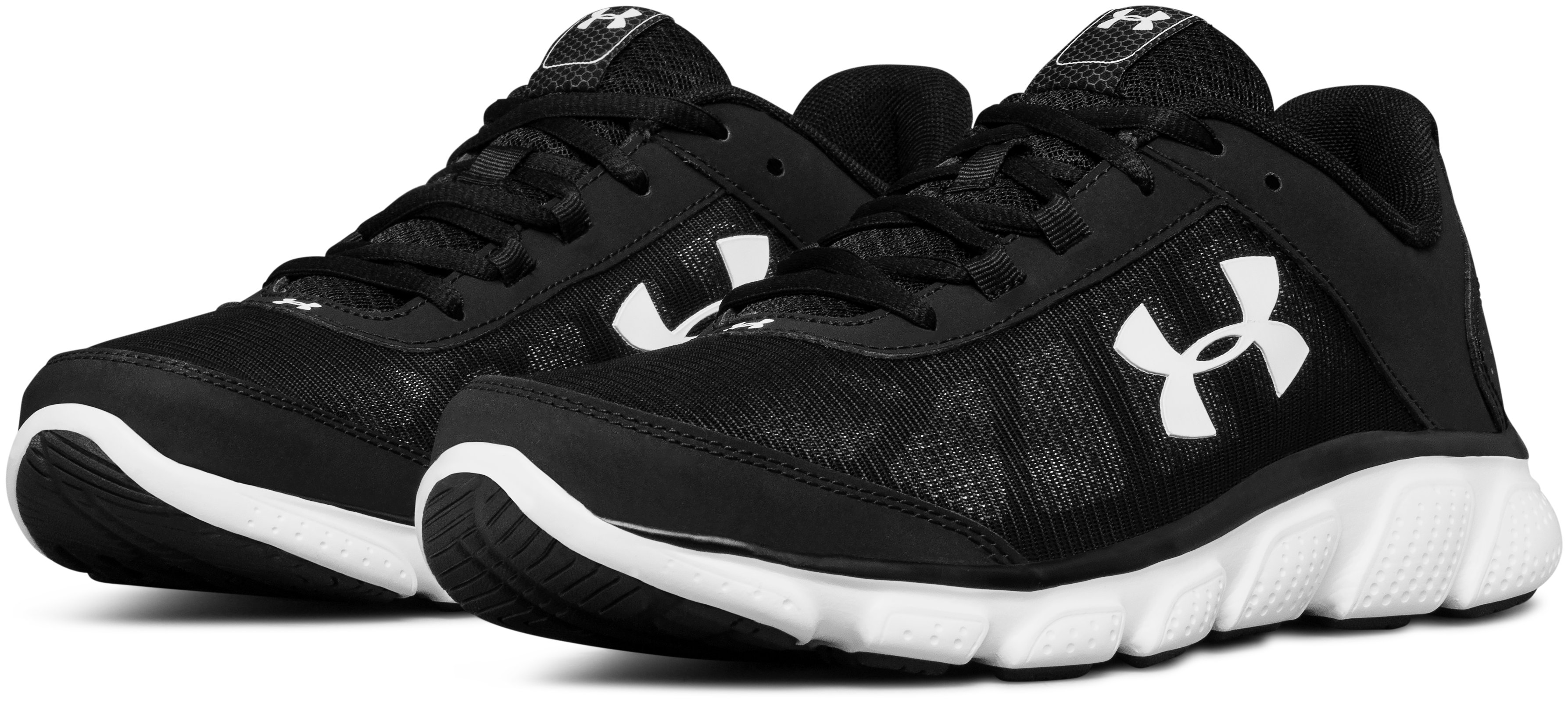 Men's UA Micro G® Assert 7 Running Shoes, Black ,