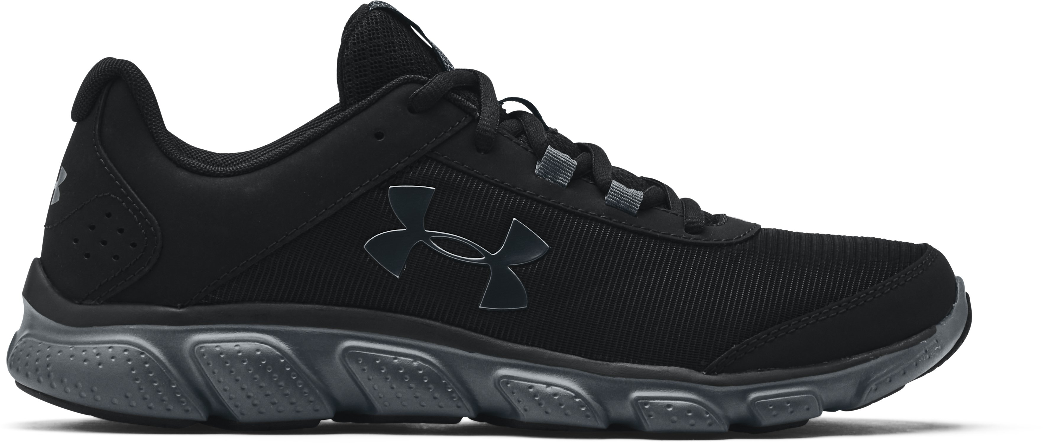 Men's UA Micro G® Assert 7 Running Shoes, Black , , Black , Click to view full size