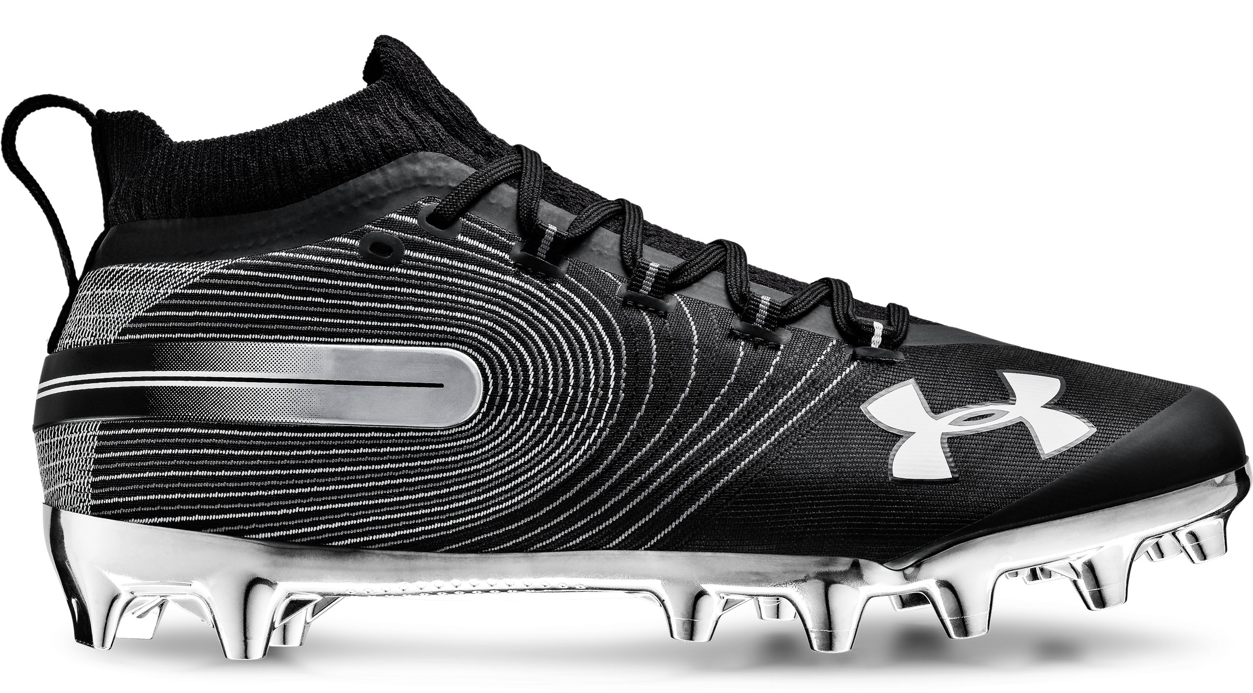 Men's UA Spotlight MC Football Cleats, Black ,