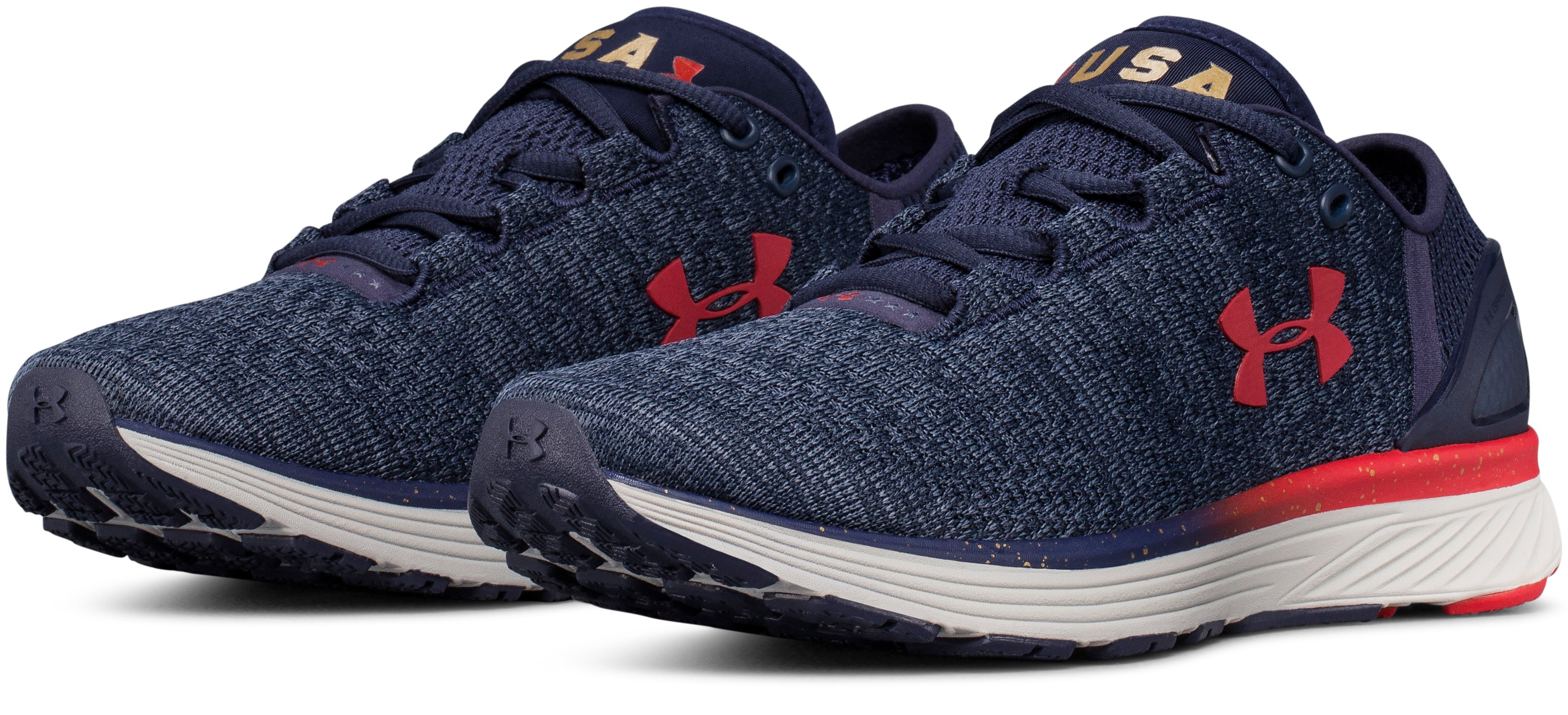Women's UA Charged Bandit 3 – USA Edition Running Shoes, Midnight Navy,