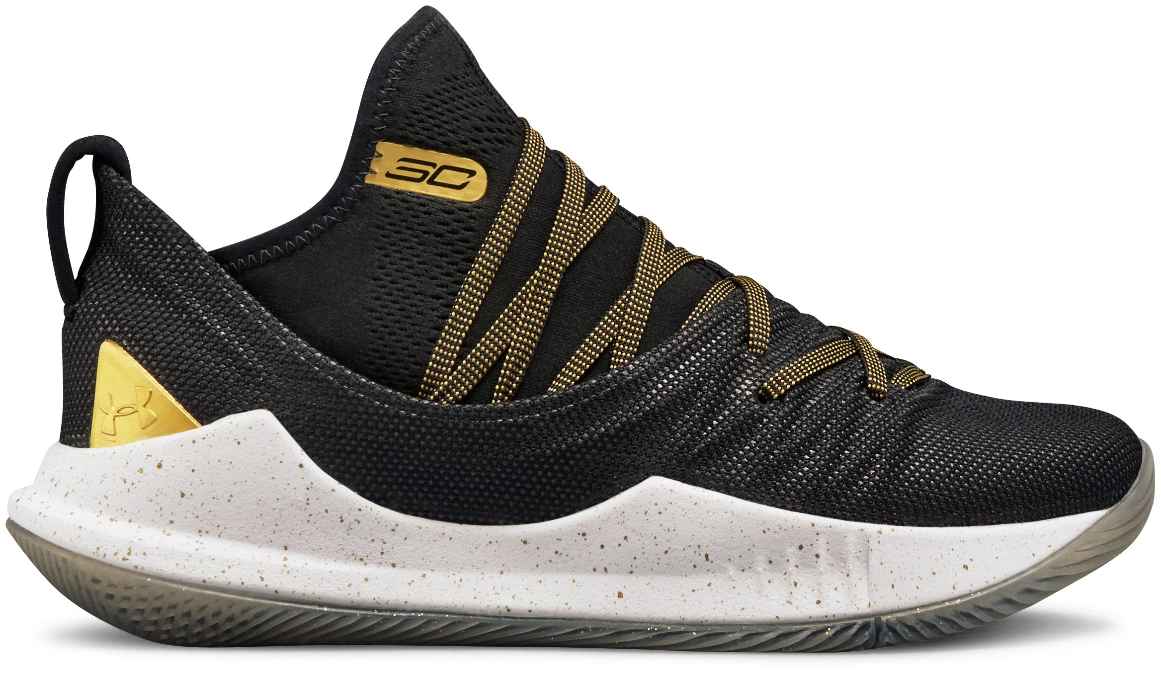 Boys' Grade School UA Curry 5 Basketball Shoes, 360 degree view