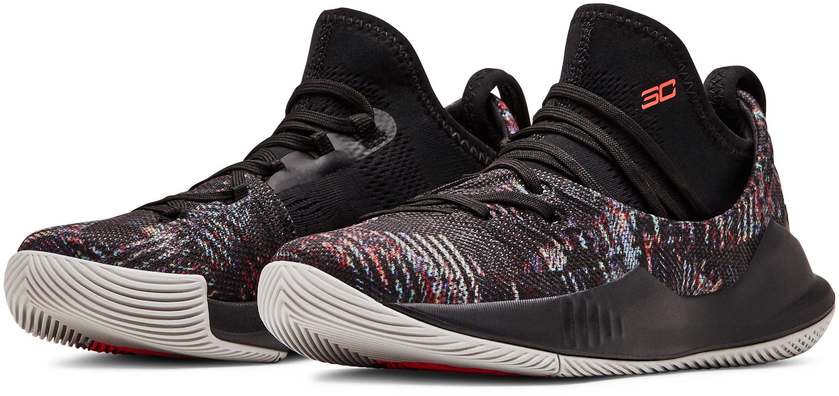 Pre-School UA Curry 5 Basketball Shoes, Black , , Black